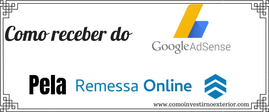 Como configurar para receber do Google Adsense pela Remessa Online