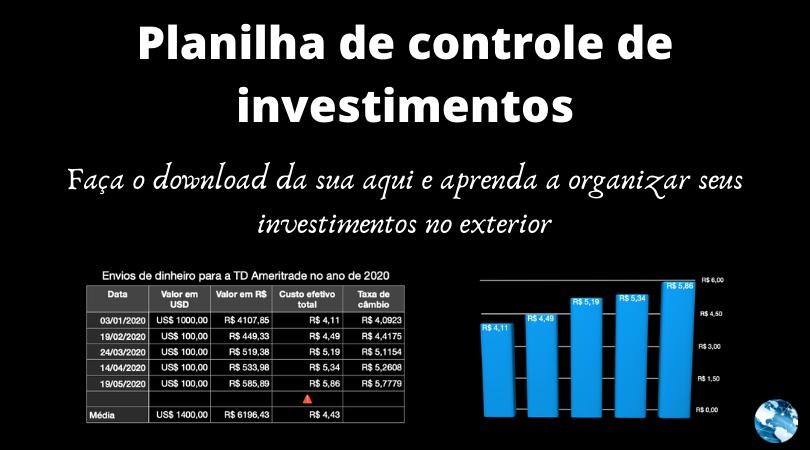Planilha de controle de investimentos (baixe aqui)