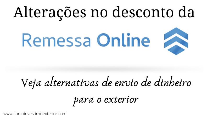 Alterações no desconto da Remessa Online