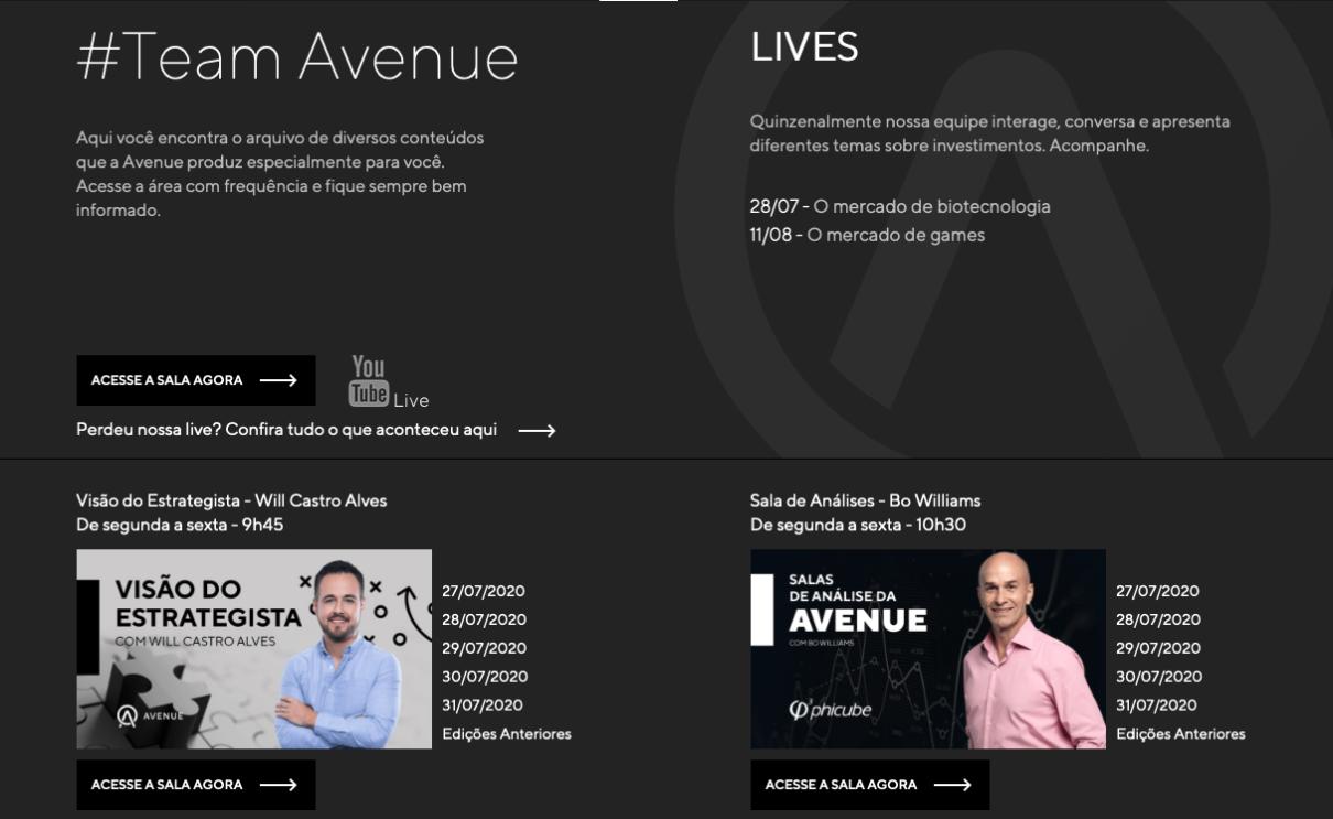 corretora Avenue e as novas funcionalidades